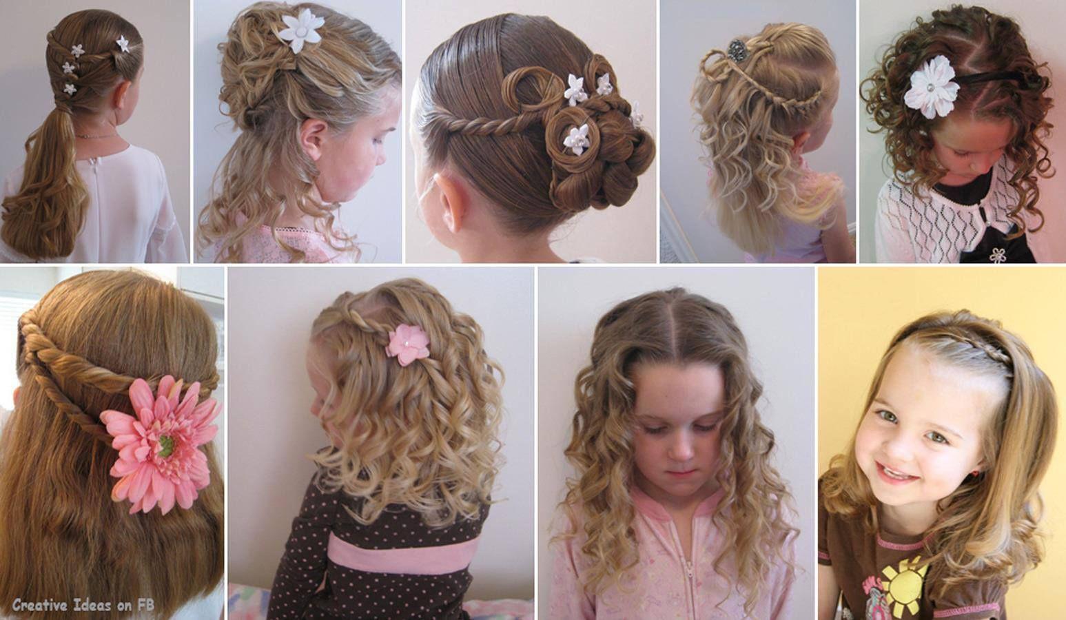 Прически девочке своими руками на средние волосы