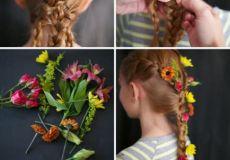 Proljetna frizura za djevojčice