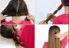 Izravnajte kosu gumicama