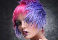 Rozo plava frizura