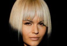 Platinasto crna frizura