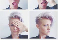 Ženstvena punk frizura