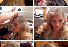 Elegantna frizura na stranu