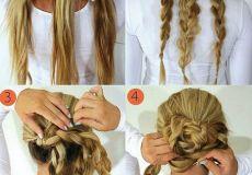 Elegantna cvjetna frizura