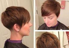 Smeđa kratka pixie frizura