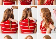 Romantična kovrčava frizura