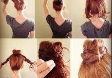 Lagana punđa za dugu kosu