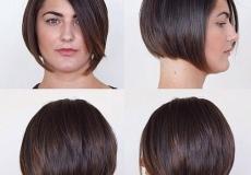 Zaokružena bob frizura