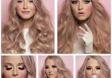 Plavo-roza frizura