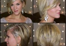 Slojevita frizura za plavu kosu