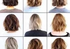 Razni stilovi kratke valovite kose