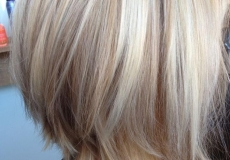 Slojevito šišana bob frizura