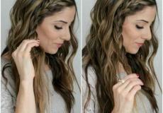 Jednostavna frizura sa pletenicom