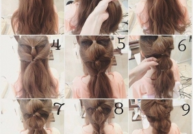Frizura pomoću gumica za kosu