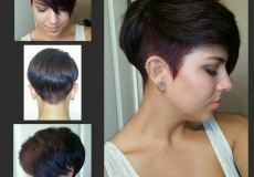 Kratka ljubičasta frizura