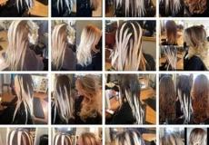 Proces bojenja kose, od tamne do svijetle