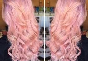 Pastelne pink boje kose