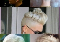 Kombinacije platinaste frizure