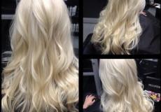 Duga platinasta frizura