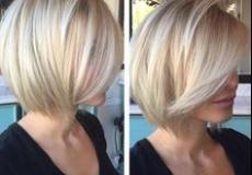 Kratka platinasta frizura