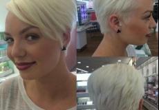 Kratka jedinstvena frizura