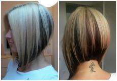 Dvobojna bob frizura
