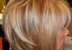 Jednostavna kratka plava frizura