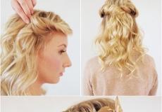 Valovita svečanija frizura