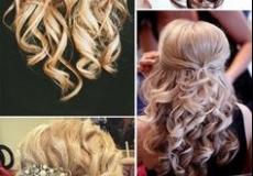 Na pola dignute svečane frizure