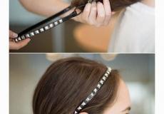 Frizura sa trakom za kosu