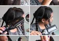 Kovrčanje kose pletenicama