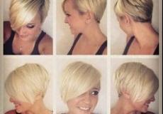 Šiške na pixie frizuri