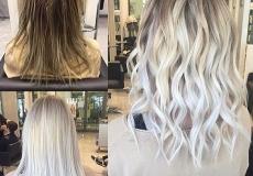 Živahna platinasta frizur