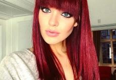 Crveni friz sa šiškama
