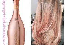 Zlatna roza frizura