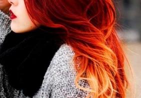 Najbolje crvene ombre frizure