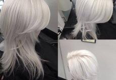Postepena frizura u bijeloj boji