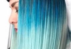 Ombre u plavom