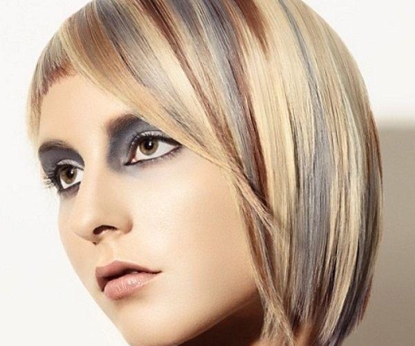 Neobična frizura s malo više boja