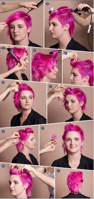 Pin up za kratku kosu