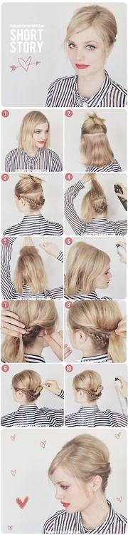 Punđa za kosu do ramena