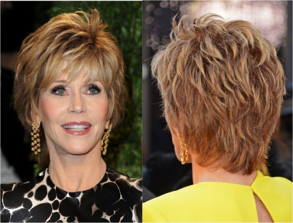 Jane Fonda - shaggy frizura