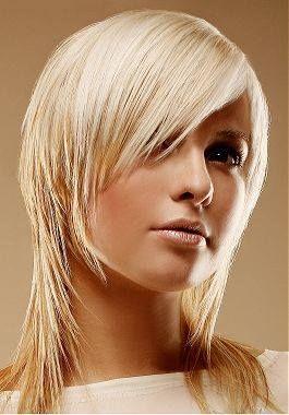 Asimetrična frizura sa šiškama