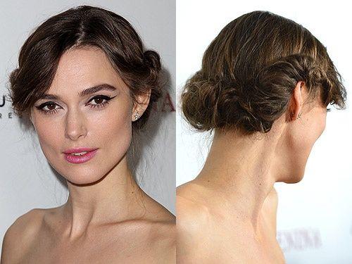 Keira Knightley - uvrnuta frizura