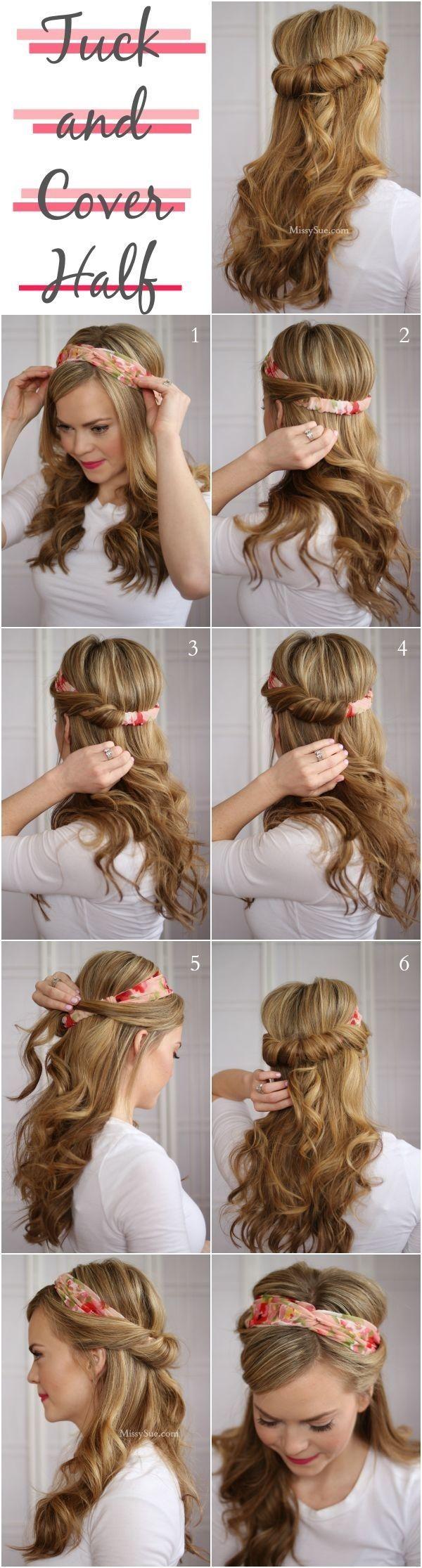 Poludignuta frizura s trakom
