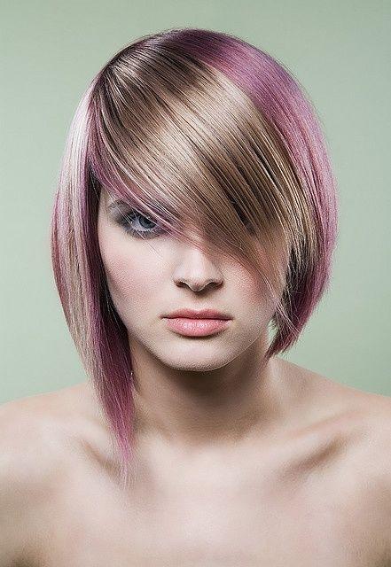 Ljubičasto plava frizura
