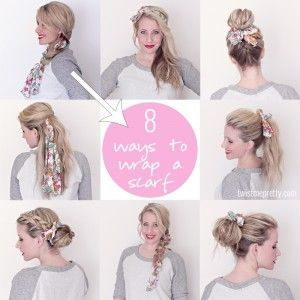 8 načina kako nositi šal na kosi