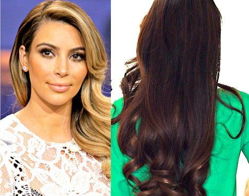 Kim Kardashian valovita frizura