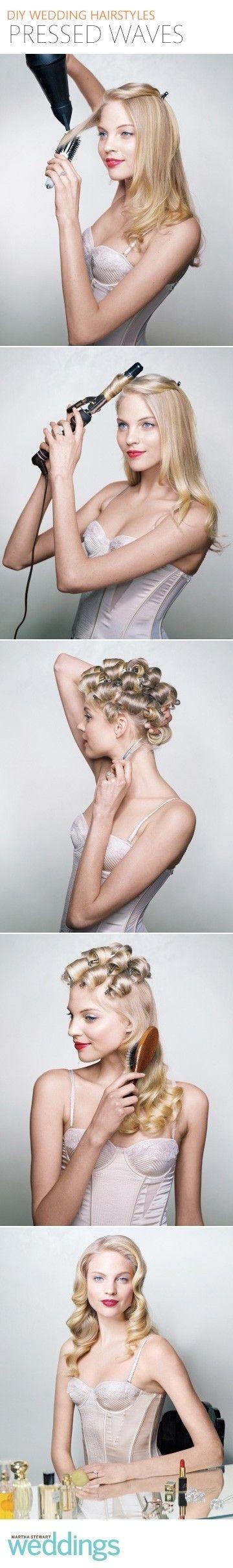 Klasična valovita frizura