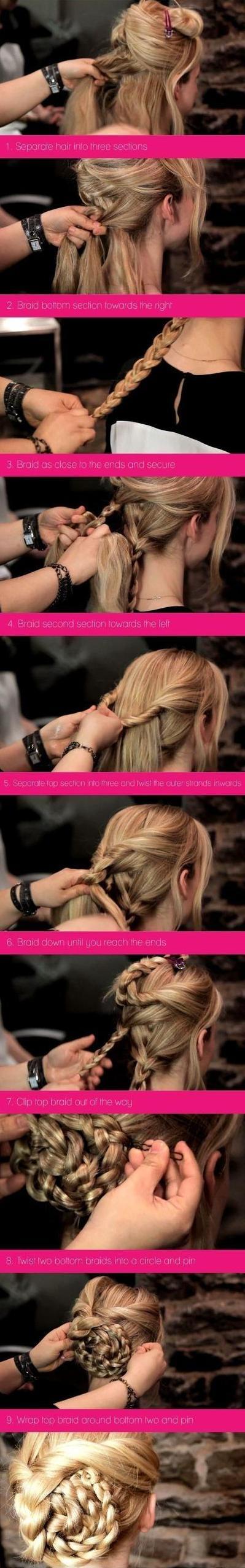 Podignuta pletena frizura